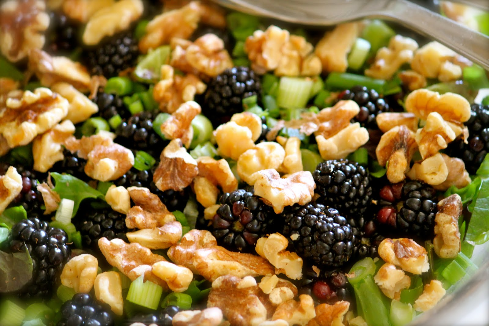 Domestic Charm: Blackberry Salad with Toasted Walnuts and Raspberry ...