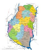 Entre Ríos es una de las 23 provincias que componen la República Argentina. mapadeentreriosrutasyrios
