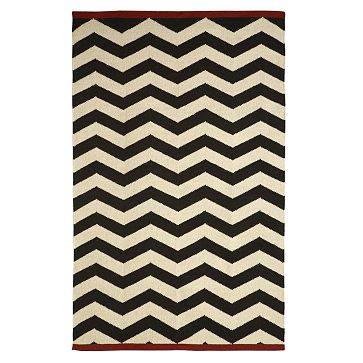 Black and white zig zag rug from West Elm