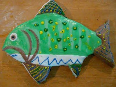 Karen Bs Cooking Made Easy Grandpas Wilton Fondant Fish Birthday