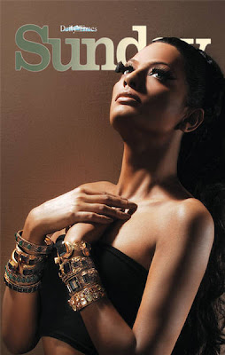 Pakistani model Rachel in Sunday Magazine Hot Photoshoot Pictures