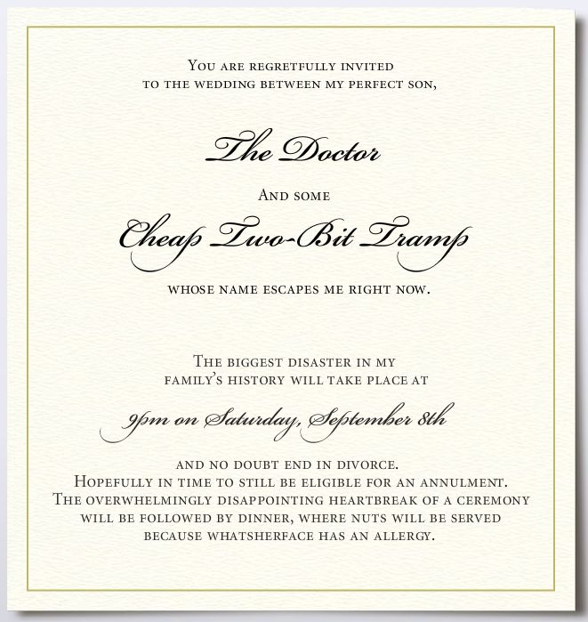 If Wedding Invitations Could If wedding invitations could