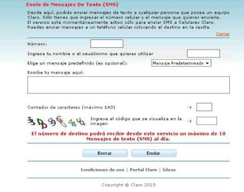 Mensajes Claro Peru