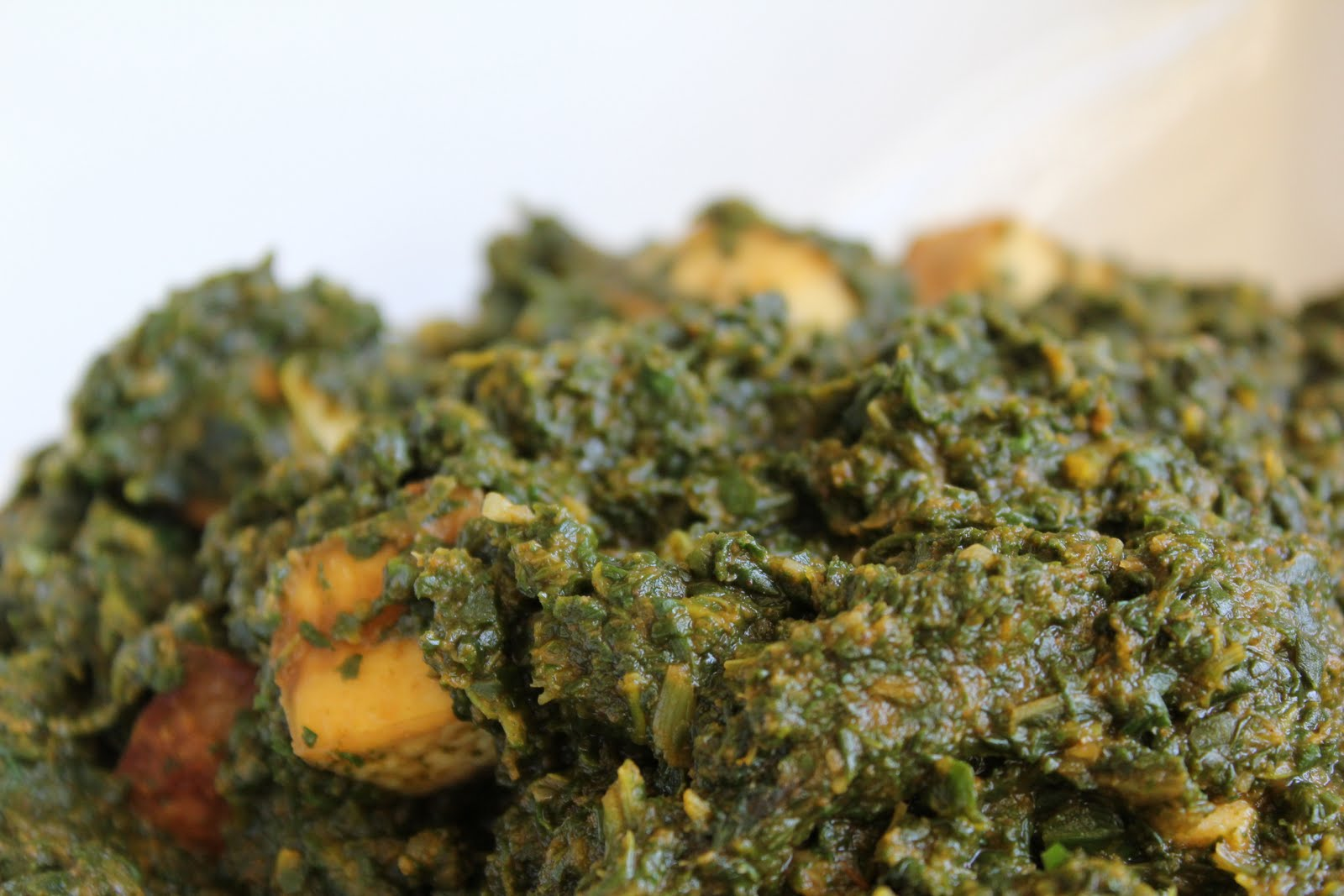 Healthy Girl's Kitchen: Vegan Indian Saag (Spinach) Tofu