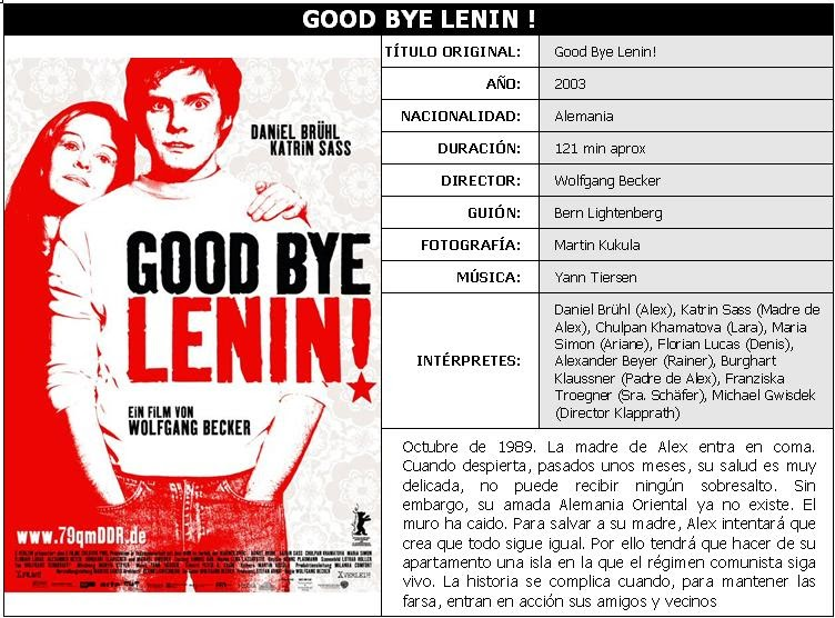goodbye lenin history and memory In goodbye lenin, the revolt by the viewers with any personal history or memory of the time period will be whisked away to a nostalgia of the historical.