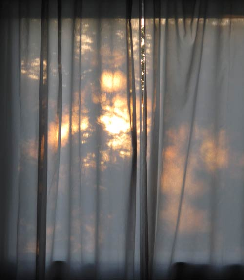 sun through curtains