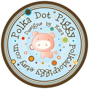polka dot piggy design's red carpet event