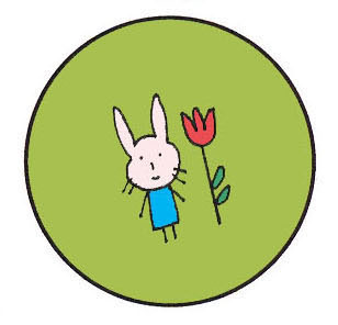 [button+bunny+green]