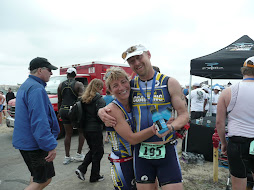 john and beth celebrate finishing a great race!