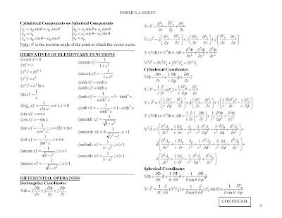 Vtu news field theory formula sheet for Vtu 6th sem time table