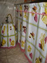 capa de botijão e cortina -cozinha