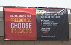 """""""WE IN ZIMBABWE WANT THE FREEDOM TO CHOOSE OUR OWN LEADERS...!"""""""