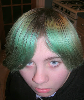 Greenish hair