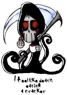 Death eating a cracker by Art-Munkey