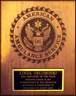 American Ambulance Employee of the Year Plaque