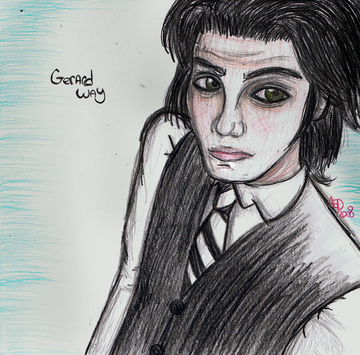 Gerard Way drawn by Amanda