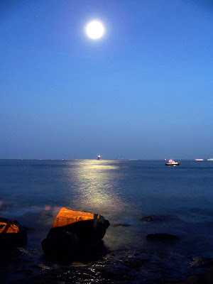 Moonlight over Long Island Sound