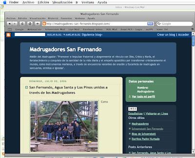 Acceso al antiguo blog San Fernando:
