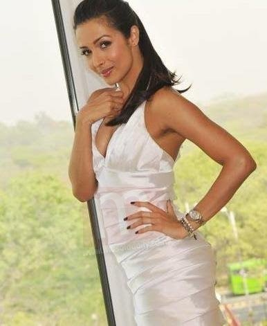 Sexy Malaika Arora in White Dress