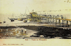 "Trapiche da Vila, construído em 1908, pela companhia ""Porto of Pará"""