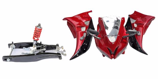 Swing Arm and fairing Motor Sport