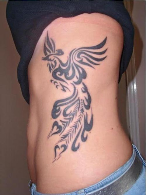 Women Side Body Phoenix Tattoo Picture 5