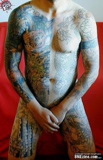 Fullbody suite tattoo design