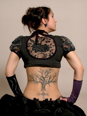 Cherry Blossom Tattoos on Girl Of Tattoo  Cherry Blossom Tattoos Designs For Lower Back Tattoo