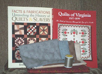 two quilt book purchases, fabrics and thread