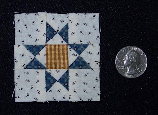 tiny star quilt block made using InkLingo