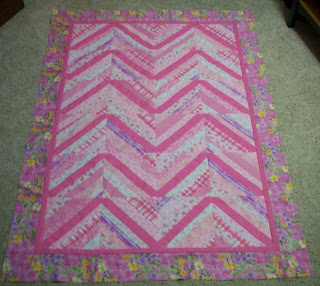 Pink String Quilt top