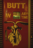 Sign outside Billy Goat Tavern, Butt in Anytime