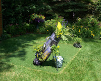 golfbag filled with flowers