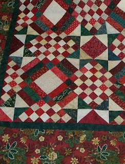 red and green scrappy mystery quilt