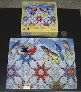 Mini quilt picture puzzle