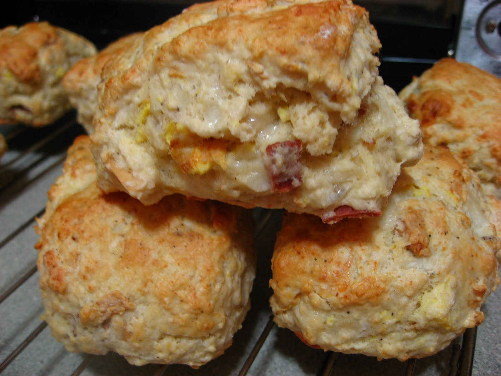 ... and i found the pictures of the bacon egg and cheese scones that