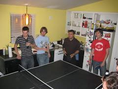 Depois do concerto, descontração no ping pong (II)