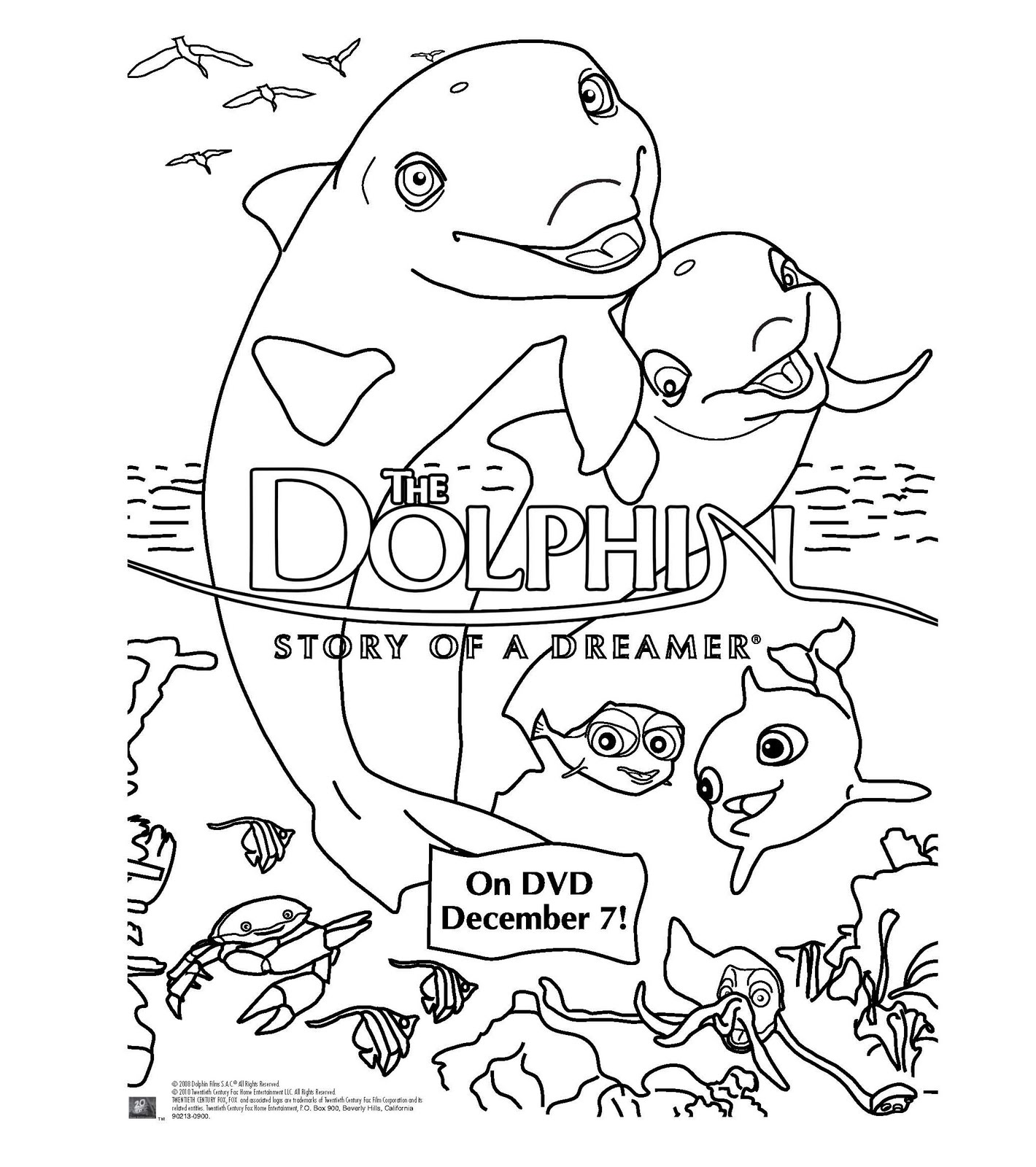 Heck of a bunch the dolphin story of a dreamer dvd for Dolphin coloring pages to print out