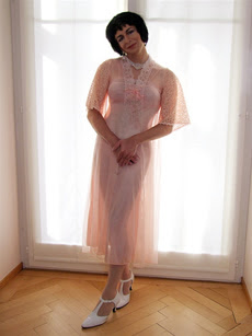 the woman wearing negligee