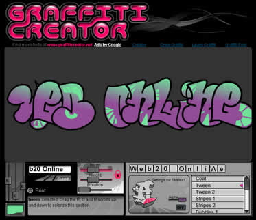 The Graffiti Creator, Crea Graffiti en linea