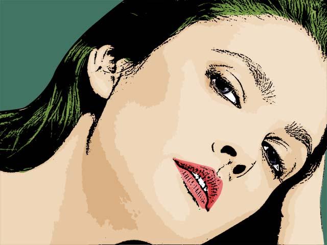 cartoon caricature. Drew Barrymore Cartoon Photo 2
