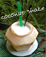 "Try our fresh ""coconut shake"""
