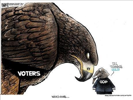 simple liberal understand--- shot hope rebublicans office sword handy voters watching republicans cartoon
