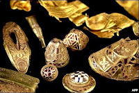 Various items from the hoard (anglo-saxon treasure)