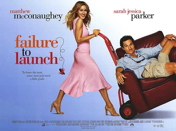 Failure to Launch is a story of a middle-aged man, Tripp(Mathew McConaughey)