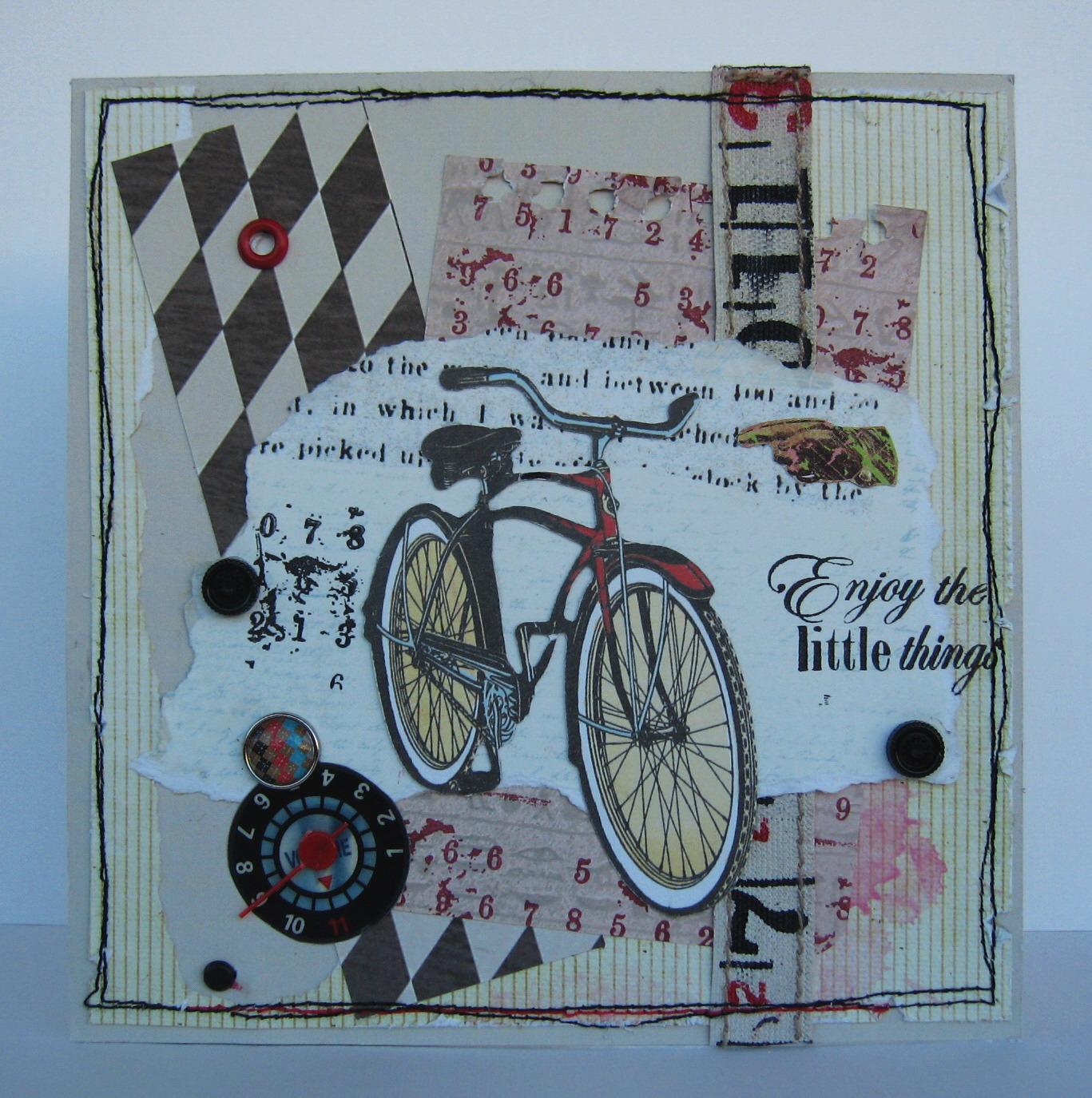 Как сделать открытку велосипед 539