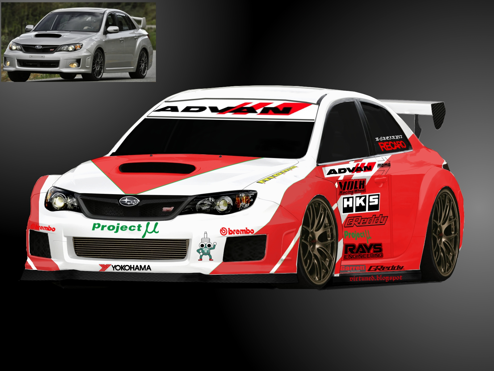 virtual tuned subaru impreza wrx sti 2011