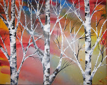 Reflections Behind the Birch Trees