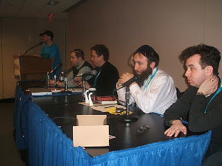 the panelists : Steve Neil Danny Stan Simcha and Arie