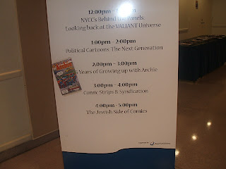 Sign showing the schedule for the room